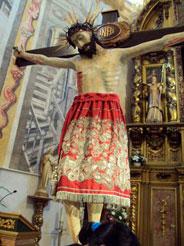 figura de Jesucristo hecha de maiz